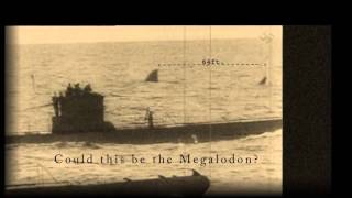 Megalodon Shark Caught on Tape   70 foot Shark Approaching Submarines