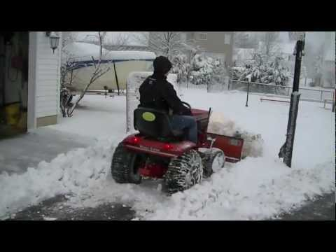Wheel Horse Plowing Snow Video