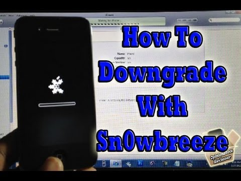 How To Use Sn0wbreeze to Downgrade. Jailbreak and Hacktivate All At Once