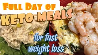 FULL DAY OF KETO MEALS FOR WEIGHT LOSS | Easy keto meals for busy days