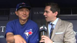 Kawasaki happy to be back with first place Blue Jays