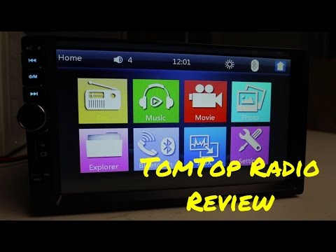 TomTop 7 inch Double Din Car Stereo Review