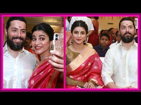 Shruti Haasan  Attends Family Wedding With Her Boyfriend | Kamal Haasan | Michael Corsale