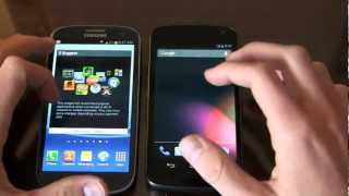 Samsung Galaxy S III vs. Samsung Galaxy Nexus Dogfight Part 2