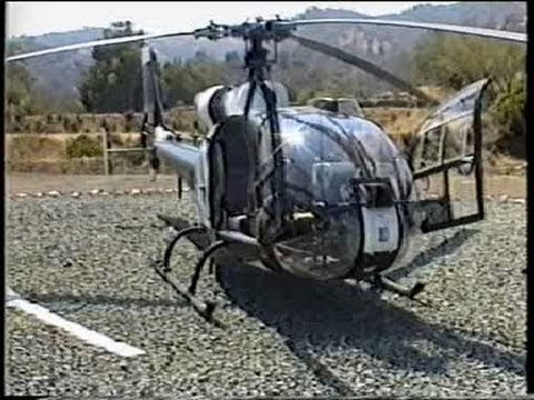 Gazelle Helicopter engine startup and take off