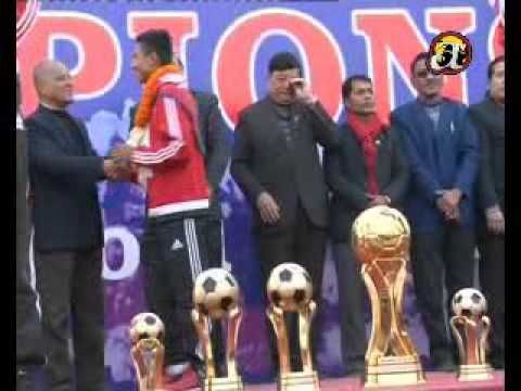 Nepali National Football team's welcome home