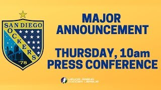 San Diego Sockers Press Conference