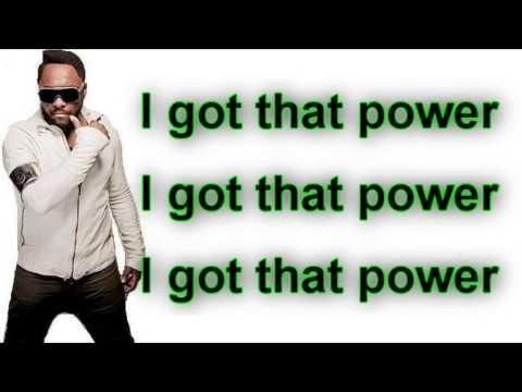 Will.i.am - That Power ft. Justin Bieber (Lyrics On Screen)