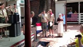 Betsy Ross Flag Retirement May 2013 2
