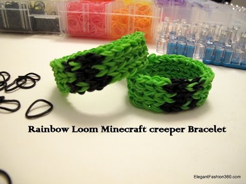 How to make Minecraft Creeper Bracelet on Rainbow Loom