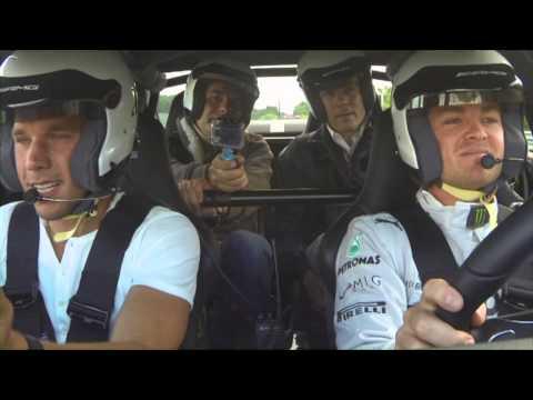 Nico Rosberg und Lukas Podolski bei der Nordschleife - Nürburgring
