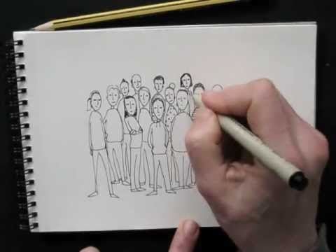 Draw Tip Tuesday - drawing a 'Crowd'