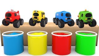 Learn Colors with Ball and Street Vehicles - Toy Cars For Kids
