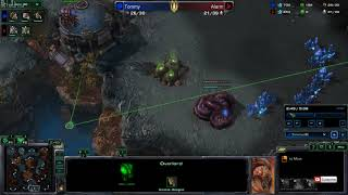 [starcraft II] ZvP blocking each other's expansions, nydus worm (with subtitle)