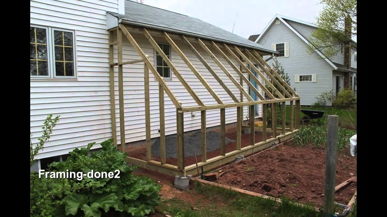 Useful build a lean to shed youtube for Lean to house designs