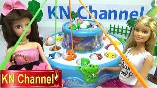 Đồ chơi trẻ em Bé Na câu cá tập 2 Đồ chơi 2 tầng Búp bê Barbie Fishing toy Childrens toys