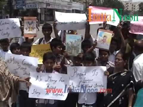 5 Year Old Child Rape in Delhi, protest rally at Hyderabad, India