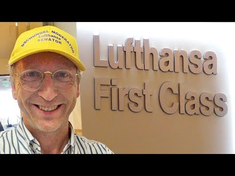 """LUFTHANSA NEW FULL Complete First Class Flight Boeing 747 Germany to USA - """"I Love It"""" Star Alliance"""