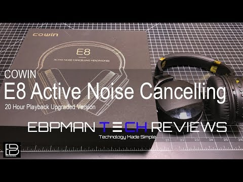 COWIN E8 Active Noise Cancelling Headphone Bluetooth Headphones with Mic Hi-Fi Deep Bass