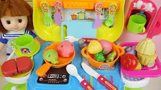 Food car baby Doll kitchen cooking play Doli house