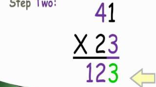 How to solve 2-digit by 2-digit multiplication~Revised