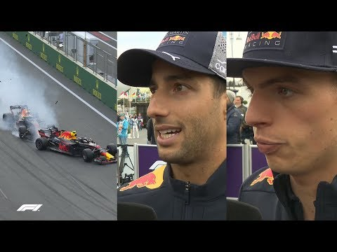Ricciardo and Verstappen Explain Baku Crash | 2018 Azerbaijan Grand Prix
