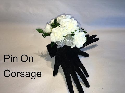 Quick way to make a pin on corsage