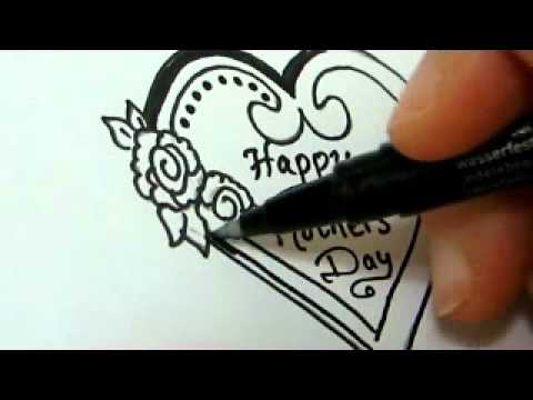 Mother Birthday Card Drawing Amazing Mothers Day Gift Idea