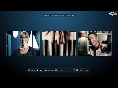 Group video calling with Skype