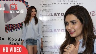 Hot Karishma Tanna At Parineeti Movie Special Screening | Viralbollywood