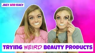 Trying Fun & WEIRD Beauty Products 3 ~ Jacy and Kacy