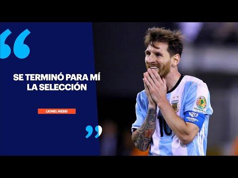 """Messi: """"Se terminó para mí la Selección"""""""