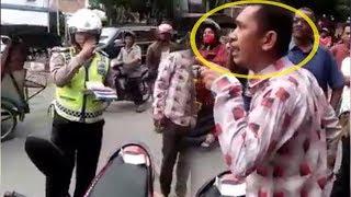 VIRAL, Polantas Cekcok dengan Pengendara Sepeda Motor saat Razia di Asahan