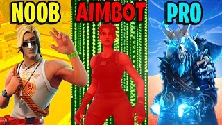 NOOB vs PRO vs AIMBOTTER - Fortnite Battle Royale Memes