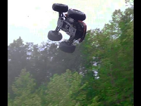 HPI Savage X 4.6 - Top Speed Jumps. Back Flips. Front Flips. Crashes. Steep HillClimb