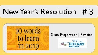 New Year's Resolution - Improve your vocabulary #3 - great for GCSE English Language!