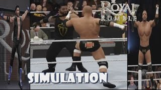 WWE 2K16 SIMULATION: Royal Rumble match 2016 Highlights
