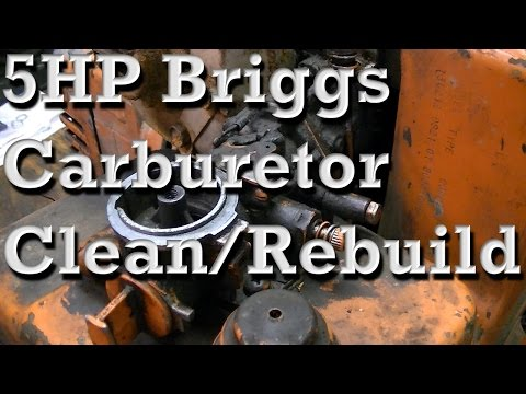 5HP Briggs and Stratton Carburetor Clean and Rebuild (Pull Choke Type)