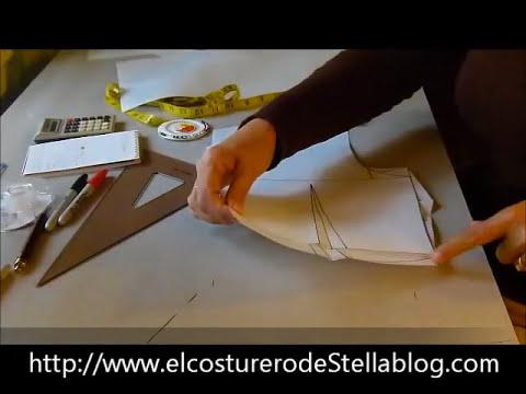El costurero de Stella- Trazo del básico posterior de la blusa