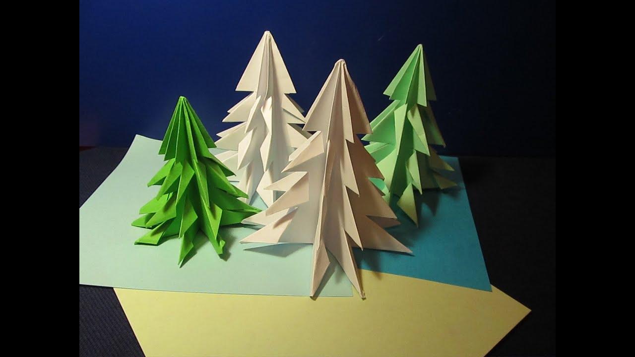 Сделать елку своими руками оригами фото