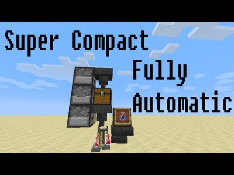 Minecraft: Super Compact Fully Automatic Brewing Stand ...