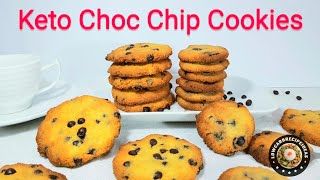 HOW TO MAKE KETO CHOC CHIP COOKIES - ONLY 10 MINS PREP TIME FOR CRISPY, CHEWY & DELICIOUS COOKIES