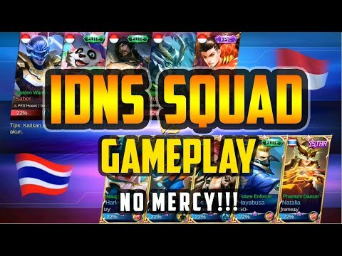 No MERCY IDNS SQUAD!!! | Build By IDNS framezy Natalia Gameplay - Mobile Legends