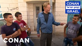 Conan Meets Activists & Refugees In The West Bank  - CONAN on TBS