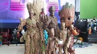 My Marvel Groot Guardians Of The Galaxy Action Figure Collection - Toy Collectors Showcase