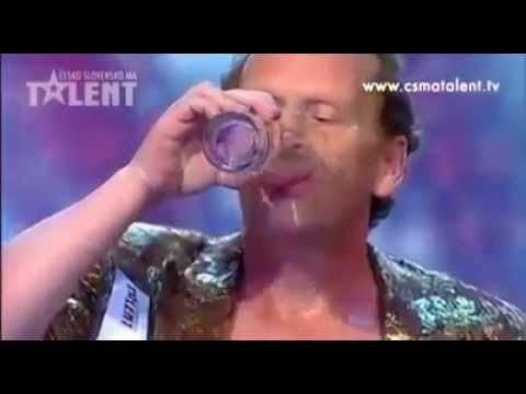 Czech Got Talent Amazing Regurgitation Technique!