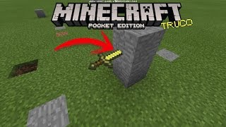 COMO CLAVAR UNA ESPADA EN LA PARED | TRUCOS MINECRAFT POCKET EDITION