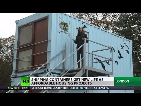 My home is a box! Soaring rents force Londoners to live in shipping containers