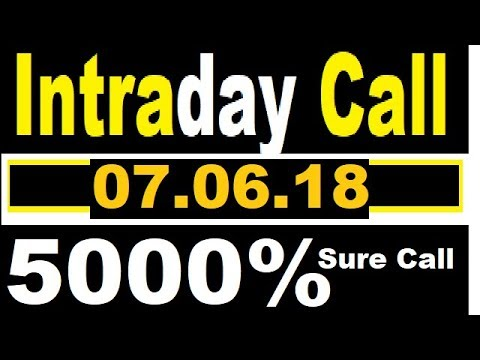 IntraDay Blockbuster Call 07.06.2018 || Intraday tips || today stock || best stock for 2018