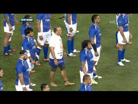 Brian Lima Leads Manu Samoa Siva Tau Tribute to Peter Fatialofa